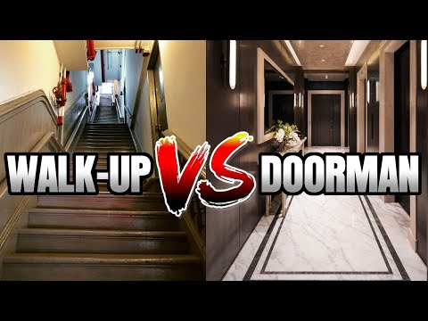 Is Luxury Worth It?- NYC Walk-Up Apartment vs. Doorman Building!🤔 (w/@Cash Jordan ) видео