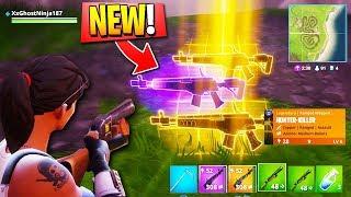 *NEW* ASSAULT RIFLE Fortnite GAMEPLAY! - NEW LEGENDARY WEAPON! (New Fortnite Battle Royale Gun)
