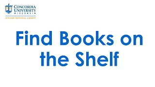 Find Books on the Shelf