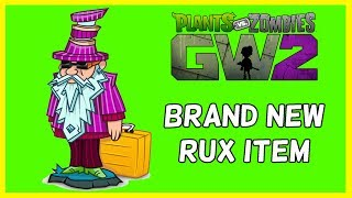 """Brand new Rux legendary item in his store right now on Plants Vs Zombies Garden Warfare 2. Let's check out what it is.Subscribe here for more Gaming Videos: http://goo.gl/JnMm2v.Don't forgot to click that notifications bell so you know when my next video is live  I Stream so come join The Barking Mad Society: https://mixer.com/krlbarkerhttps://twitch.tv/krlbarker Fancy spying on what I'm doing lately join my Twitter: https://twitter.com/KrlBarkerWant to stalk me on Xbox One well here's my GT: KrlBarkerJoin my Club on Xbox One and have a Chat: Search KrlBarkerIntro Creator: Dopemotionshttps://www.youtube.com/channel/UCgvrz9ioKv89HMyg42z4pyQEdited By: KrlBarkerFor more templates, visit www.velosofy.com! Plants vs. Zombies: Garden Warfare 2 is a third-person shooter, similar to Garden Warfare. Gameplay largely remained the same as its predecessor, with the addition of 8 (6 immediately accessible and 2 which must be unlocked through a series of tough trials) new plant and zombie classes, a zombie version of Garden Ops, titled Graveyard Ops, and a new mode called Herbal Assault, a swapped version of Gardens and Graveyards where the Zombies must defend the bases and preventing the Plants from capturing it, which supports up to 24 players. Different classes have different abilities. Most characters and modes (Team Vanquish, Garden Ops, etc.) from the original Garden Warfare will be returning. A new """"remix"""" music from the original Garden Warfare for the Zombies. New abilities for returning characters will also be introduced in Garden Warfare 2."""