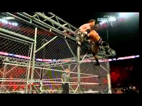 1/4/11 Raw Orton vs Barrett vs Sheamus Steel cage match part 1/2