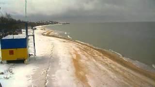 Пляж в Щёлкино, 22.12.2012 - time-lapse с камеры 1