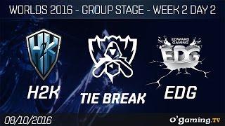 Tie Break - H2K  vs EDG - World Championship 2016 - Group Stage Week 2 Day 2