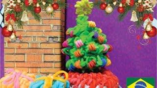 tutorial de como fazer artigos natalinos de elásticos nos tear