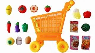 Video Toy Cutting Velcro Fruit Vegetables Shopping Trolley Kart Basket Groceries MP3, 3GP, MP4, WEBM, AVI, FLV Mei 2017
