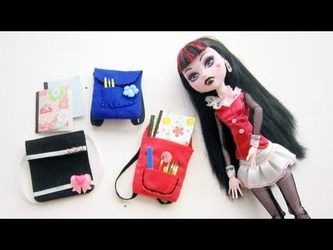 Episodio 637- Cómo hacer útiles escolares en miniatura para muñecas ...