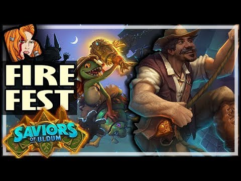 SAVIORS OF ULDUM BRAWL ALREADY?! - Fire Fest E.V.I.L. - Saviors of Uldum Hearthstone