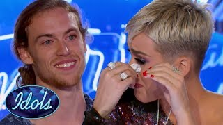 Video INSPIRATIONAL! American Idol Judge KATY PERRY CRIES During David Francesco's Audition | Idols Global MP3, 3GP, MP4, WEBM, AVI, FLV Maret 2018