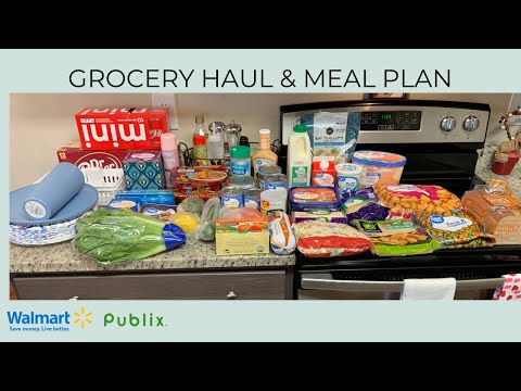 GROCERY HAUL & MEAL PLAN | BUDGET FRIENDLY | WALMART GROCERY PICKUP | PUBLIX | GROVE COLLABORATIVE