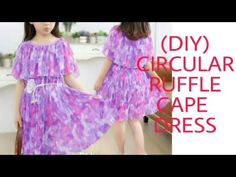 Video (DIY) GATHERED CIRCULAR  RUFFLE CAPE DRESS download in MP3, 3GP, MP4, WEBM, AVI, FLV January 2017