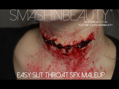 Slit Throat Halloween SFX Makeup Tutorial