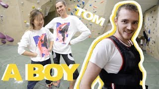 Climbing with a BOY by Bouldering DabRats