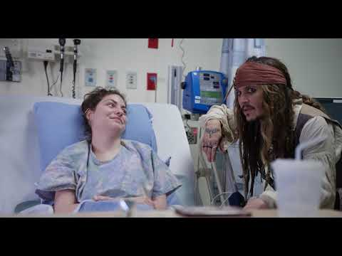 Johnny Depp visited a Vancouver children's hospital dressed as Jack Sparrow. He balances Jack Sparrow's canter with a genuine sweetness.