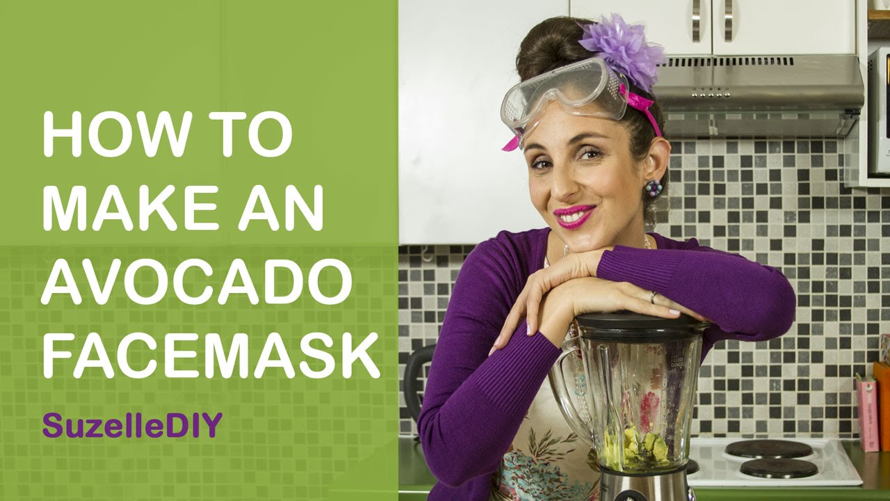 How to make an Avocado Facemask-graphic