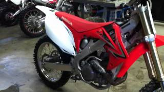 9. 2009 CRF450R FMF Powercore 4 Backfire with flame!!!!