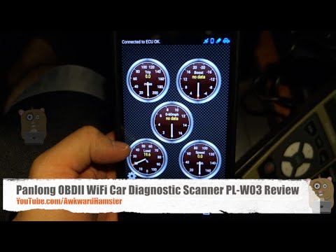 Panlong OBDII WiFi Car Diagnostic Scanner PL-W03 ODB2 Review - How To Clear Check Engine Light