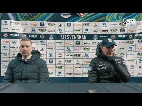 Presskonferens efter ÖSK - IFK Göteborg