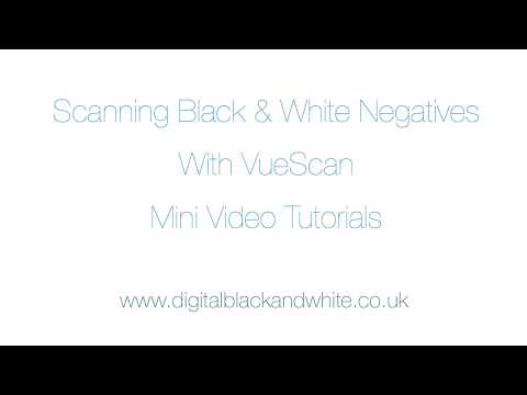 Scanning Black And White Film  Negatives With VueScan