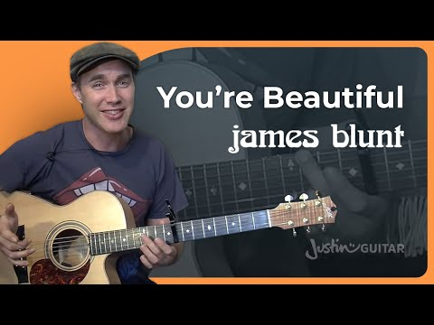 You're Beautiful – James Blunt (Easy Songs Beginner Guitar Lesson BS-991) How to play
