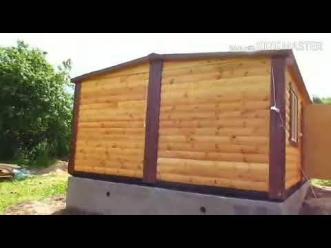 Обзор деревянного дома 4,6 х 6,0 миз профилированного бруса