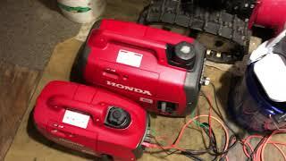 8. Honda EU2200i and a EU1000i in parallel sharing a load