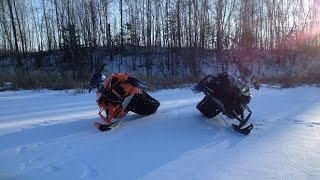6. Snowmobiling in Minnesota 2014 Arctic Cat XF800 and M8000