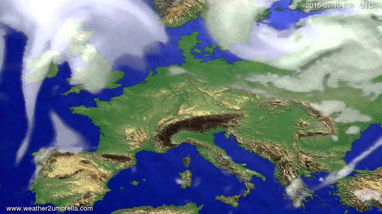 Cloud forecast Europe 2015-07-08