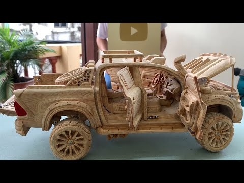 Top Level Toyota HiLux Build Your Own (Version 2021) // Wood Carving