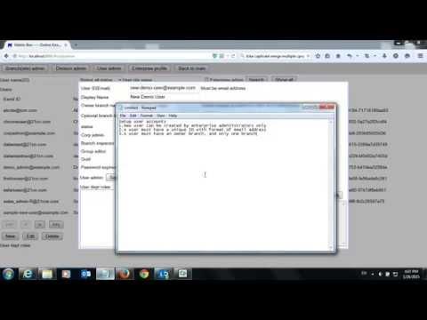 Setup users (Matrix-Box, Online enterprise knowledge management system)