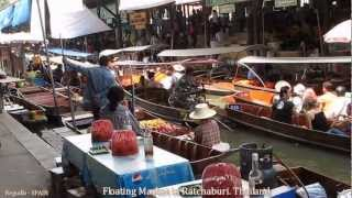 Ratchaburi Thailand  City pictures : Floating Market in Ratchaburi, Canal Boat Ride- Thailand