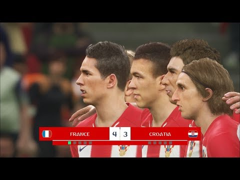 FRANCE vs CROATIA I Final FIFA World Cup 2018 I PES 2018 Penalty Shootout