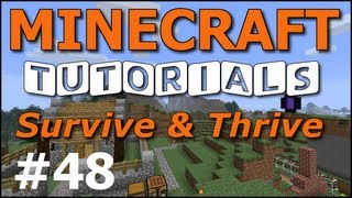 Minecraft Tutorials - E48 Dog Houses (Survive and Thrive II)
