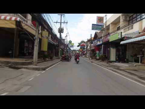 Koh Samui Lamai Beach Road – Morning 7:30am