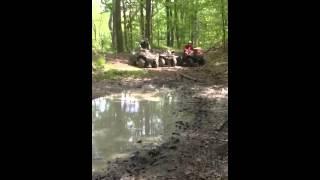 3. Kawasaki prairie 700 4x4 mud hole