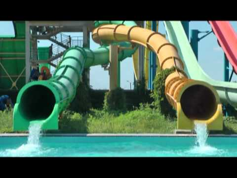 Ukraine Water Park with the Pukka Pies England Band