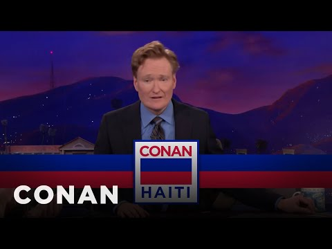 Why Conan Just Planned A Last-Minute Trip To Haiti  - CONAN on TBS (видео)