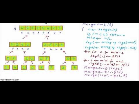 Download Merge sort algorithm HD Mp4 3GP Video and MP3