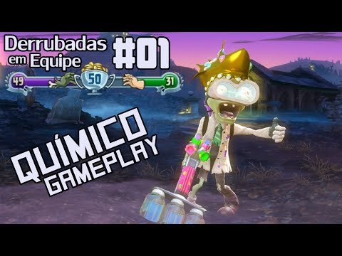 Plants vs Zombies Garden Warfare [DERRUBADAS EM EQUIPE #01 - Químico Gameplay]