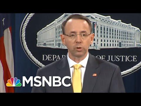House GOP Press Deputy AG Rod Rosenstein For Probe Papers | Morning Joe | MSNBC