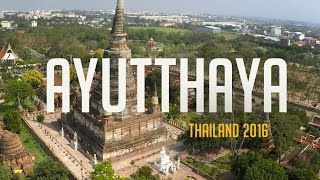 Ayutthaya Thailand  city photos : Wat Yai Chai Mongkon in Ayutthaya, Thailand 2016 | GoPro Hero 4 & DJI Phantom 2