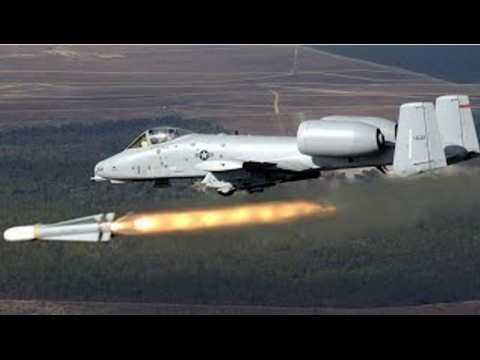 A-10 in action using it's cannon...