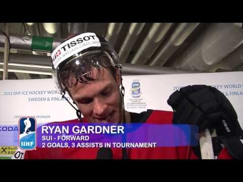 USA - SUI-USA 3-0 Post Game Comments from Gardner (SUI), Seger (SUI), Niederreiter (SUI), Vauclair (SUI) and Smith (USA)