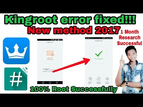How to fix kingroot root failed | How to fix kingroot error | How to root 6.0.1 marshmallow