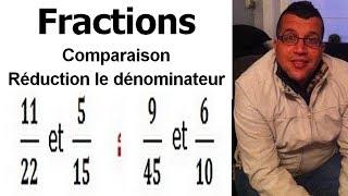 Maths 6ème - Fractions comparaison et réduction le dénominateur Exercice 9