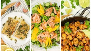 3 Easy Fish & Seafood Recipes | Healthy Meal Plans 2020 by The Domestic Geek