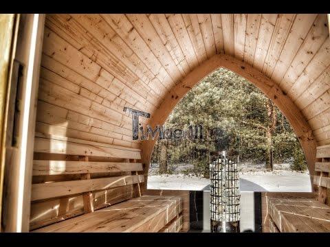 Saune da giardino in legno esterna in vendita - TimberIN