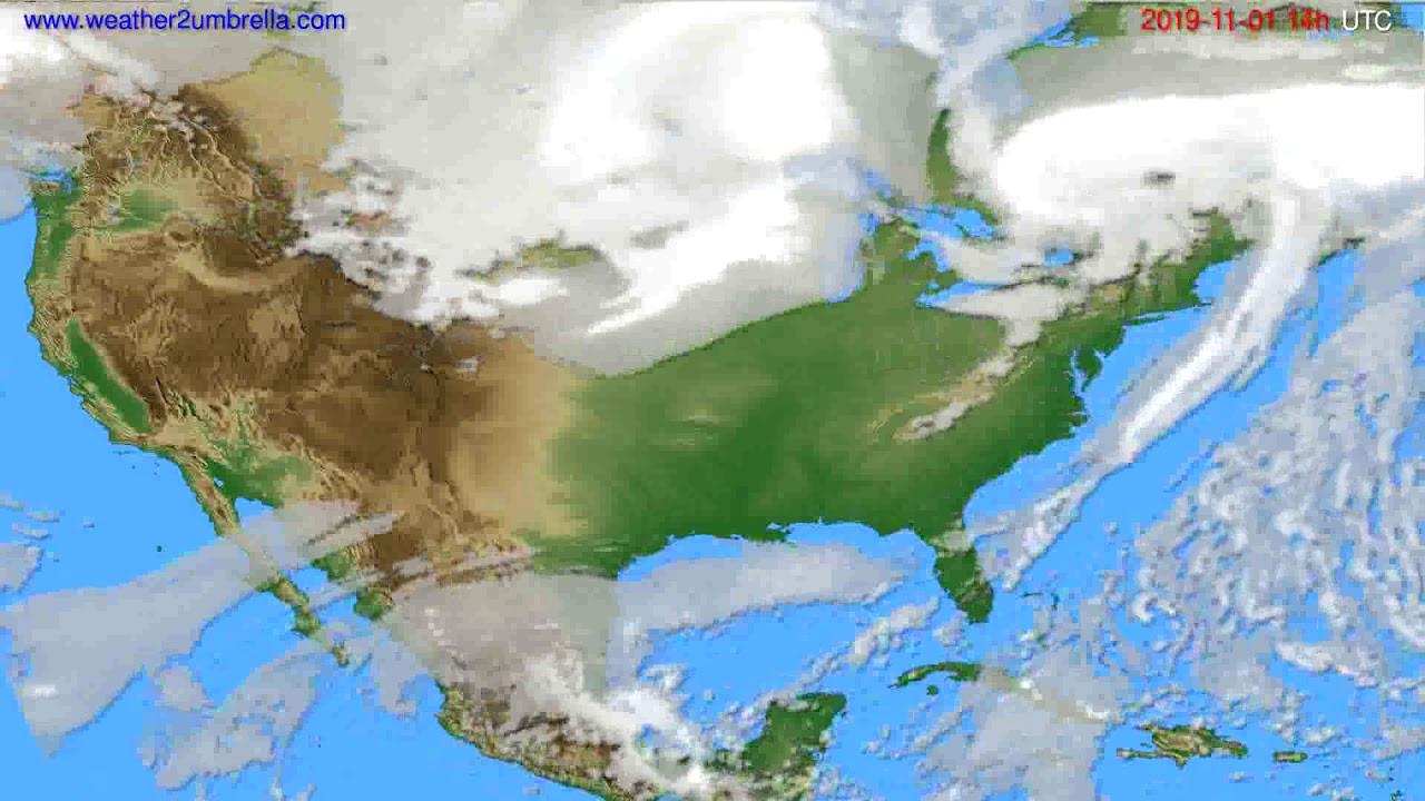 Cloud forecast USA & Canada // modelrun: 12h UTC 2019-10-30