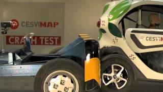 Crash Test trasero Renault Twizy en CESVIMAP