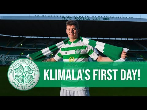 Behind the scenes Patryk Klimala39s first day at Celtic