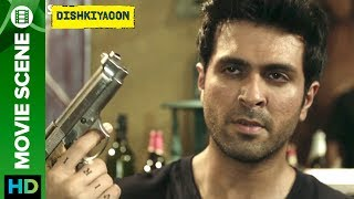 Click here to watch the full movie - http://bit.ly/DishkiyaoonFullMovieHarman Baweja force to face Do or Die situation by Khaleefa.Check out scene from the movie 'Dishkiyaoon' a film directed by Sanamjit Singh Talwar featuring Harman Baweja, Sunny Deol & Ayesha Khanna. The film is produced by Sunil Lulla & Shilpa Shetty Kundra. Music is composed by Sneha Khanwalkar, Palash Muchhal, Prashant Narayanan and White Noise Production.For Mobile Downloads Click: http://m.erosnow.comTo watch more log on to http://www.erosnow.comFor all the updates on our movies and more:https://twitter.com/#!/ErosNowhttps://www.facebook.com/ErosNowhttps://www.facebook.com/erosmusicindiahttps://plus.google.com/+erosentertainmenthttp://www.dailymotion.com/ErosNowhttps://vine.co/ErosNow http://blog.erosnow.com